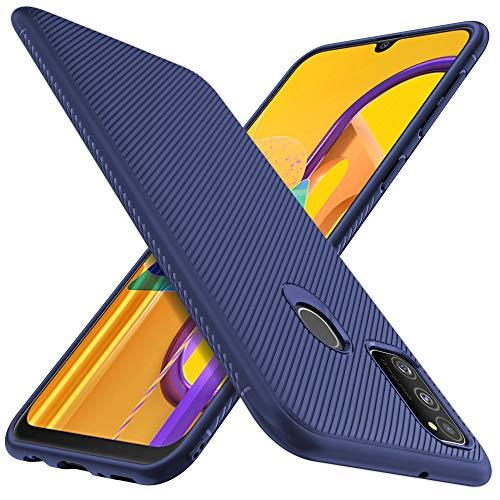 iBetter für Samsung Galaxy M30s Hülle, für Samsung Galaxy M21 Hülle, Ultra Thin Silikon hülle Abdeckung Handy Handyhülle Schutzhülle Shock Absorption Cover passt für Samsung Galaxy M30s, Blau
