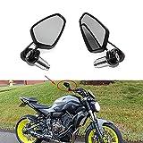 Moto Espejo Retrovisor negros, espejos retrovisores de 7/8'22 mm para motocicleta para Scooter Cruiser Sport Bike Chopper