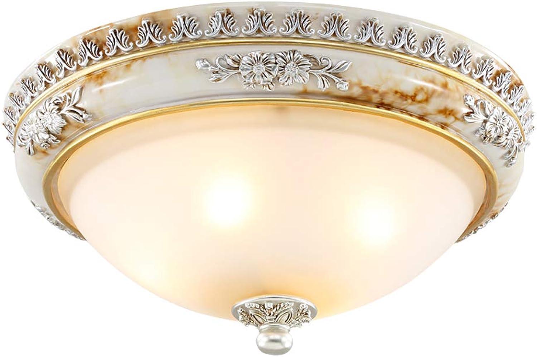 Amerikanische kompakte Deckenleuchte, europische E27-Deckenleuchte, Schlafzimmer-Dekorationslampe-runde einfache europische Wohnzimmer-Gang-Lampen-Balkon-Befestigungs-Licht (gre   37cm)