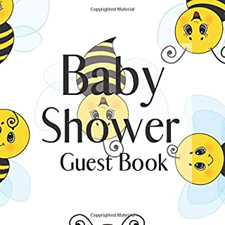 Baby Shower Guest Book: Bumblebees Bee Theme - Gender Reveal Boy Girl Signing Sign In Guestbook, Welcome New Baby with Gift Log Recorder, Address Lines, Prediction, Advice Wishes, Photo Milestones