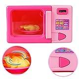 MAJGLGE - Juguete de microondas portátil para niños y niñas, para Comida eléctrica, Regalo – Rosa