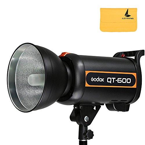 Godox QT600 600 W GN76 High Speed Studio Strobe Flash Lampada Head 220 V Riciclato Tempo di 0,05-1,2 s +Letwing Digital Panno (QT-600)
