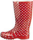 Playshoes Gummistiefel Punkte aus Naturkautschuk 190100, Damen Gummistiefel, Rot (rot 8), EU 40 - 5