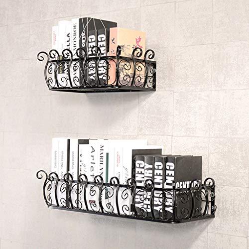005 Estante de Flores en la Pared Estante de Pared de Hierro Forjado Estante de Palabra Estante de la Pared Estante Industrial Viento Marco Decorativo (Size : 150cm)