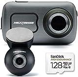 Nextbase 622GW Dash Cam cámara frontal y trasera con tarjeta SD Clase 10 U3 128gb - Full 4K/30fps UHD en grabación de coche - WIFI Bluetooth GPS -Super Slow Motion 120fps- Alexa incorporado