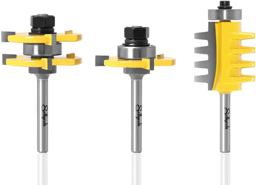 Tongue and Groove Router Bit 4 Shank Set Max 58% OFF Luxury SellyOak 1