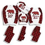 Christmas Pajamas Family Cotton Pjs Set Sleepwears Xmas Jammies Bear Kids Pajamas for Boys and Girls 7-8T