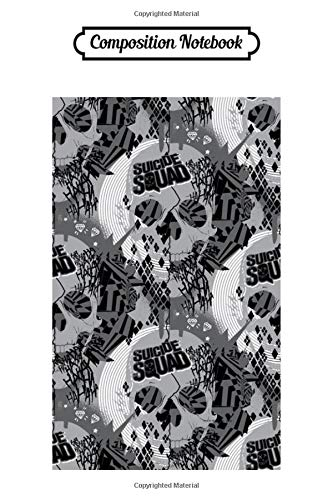 Composition Notebook: Suicide Squad Skull Pattern All Over Print Harley Quinn Trending Dc Comics Journal/Notebook Blank Lined Ruled 6x9 100 Pages