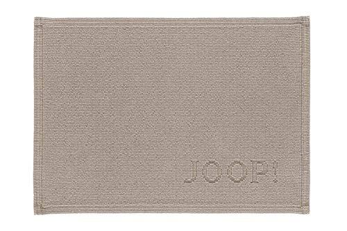 Joop! Alfombra de baño Signature de 50 x 70 cm, color arena, 100% algodón, altura de pelo de 6 mm, forma rectangular, aspecto elegante, suave, resistente, fabricada en Portugal