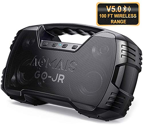 Portable Bluetooth Speaker, True Wireless Stereo Pairing 2 Speakers for a Powerful 50W Bass Sound, 100Ft Bluetooth Range, 15 Hrs Playtime, IPX5 Waterproof Speaker, Built-in Mic, Indoor, Outdoor Party