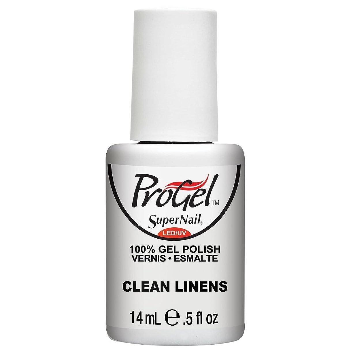 便益どんよりした金曜日SuperNail ProGel Gel Polish - Clean Linens - 0.5oz / 14ml