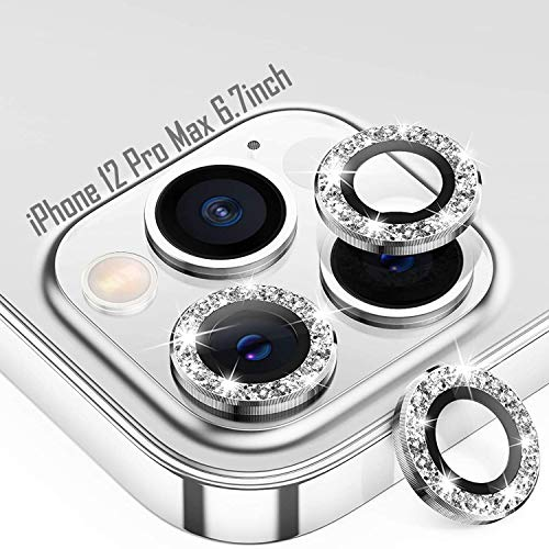Tensea Compatible with iPhone 12 Pro Max Camera Lens Protector, 9H Tempered Glass Camera Cover Screen Protector for iPhone12 Pro Max 6.7 inch 2020 (Diamond)