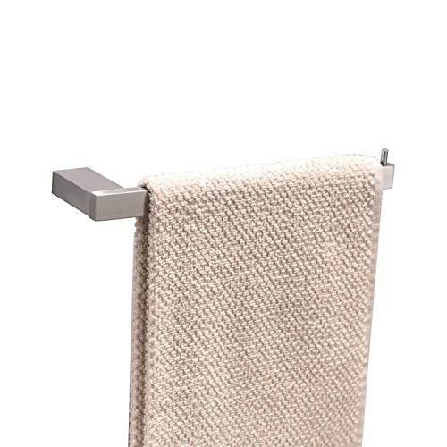KENES Toallero de acero inoxidable 304, montaje en pared, 16,5 cm, para baño y cocina (acero inoxidable cepillado, taladro)