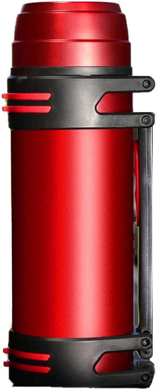 Kehuitong Bouilloire d'isolation, tasse d'isolation extérieure pour ménage en acier inoxydable, homme, thermos de grande capacité portatif, grand voyage Produits de haute qualité 8 (Couleur   rouge)