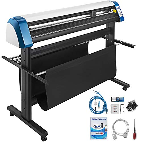 VEVOR Vinyl Cutter 53 Inch Vinyl Cutter Machine 1340mm Vinyl Printer Cutter Machine LED Fill Light Strip Vinyl Plotter Cutter Machine with Floor Stand & Signmaster Software