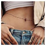 Simsly Sexy Bead Waist Chain Bikini Body Chain Belly Button Body Jewelry Accessories for Women and Girls
