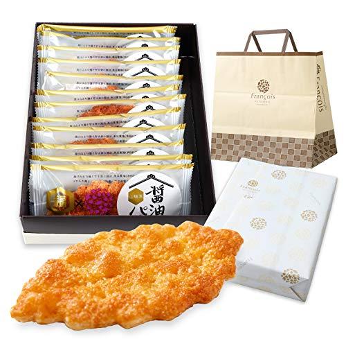 醤油パイ 12枚入 手提げ紙袋付き お菓子 ギフト 熨斗 のし可能 個包装 リーフパイ