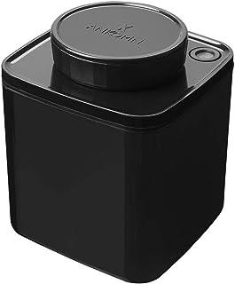 ANKOMN ダイアル式真空保存容器ターンシール ブラック遮光 キャニスター (0.6L) コーヒー豆 約150~200g コーヒー粉 約100g 真空・密閉・密封