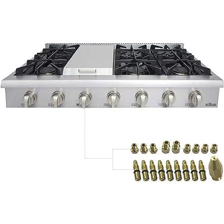 Cooktops Stainless Steel HRT3003U 48 inch Gas Rangetop/Cook Top ...