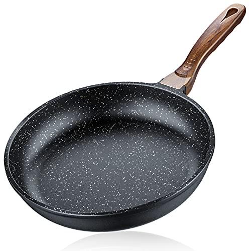 Sartén Piedra Antiadherente Inducción 28 cm - Ferlord Sartén Antiadherente sin PFOA en Aluminio Fundido, Base Triple Espesor para Todo Tipo de Cocina