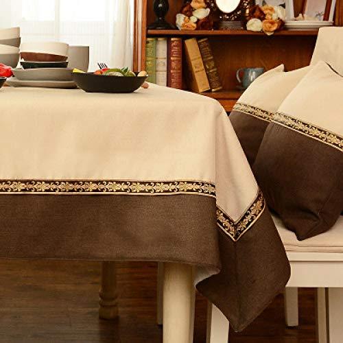 PhantasyIsland.com Carvapet Manteles Rectangular Manteles Algodón Lino Mantel Manteles para Cocina Comedor Mesa Buffet Mantel de 140 * 180cm