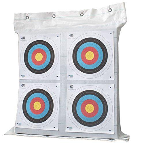 Yate Bogensport Zielscheibe FTP 95 x 95 x 21cm bis 55 lbs für Indoor & Outdoor Waffensport Bogenschießscheibe Training leicht einfaches Pfeile ziehen langlebig mit Stoffhülle und Ösen zum Aufhängen
