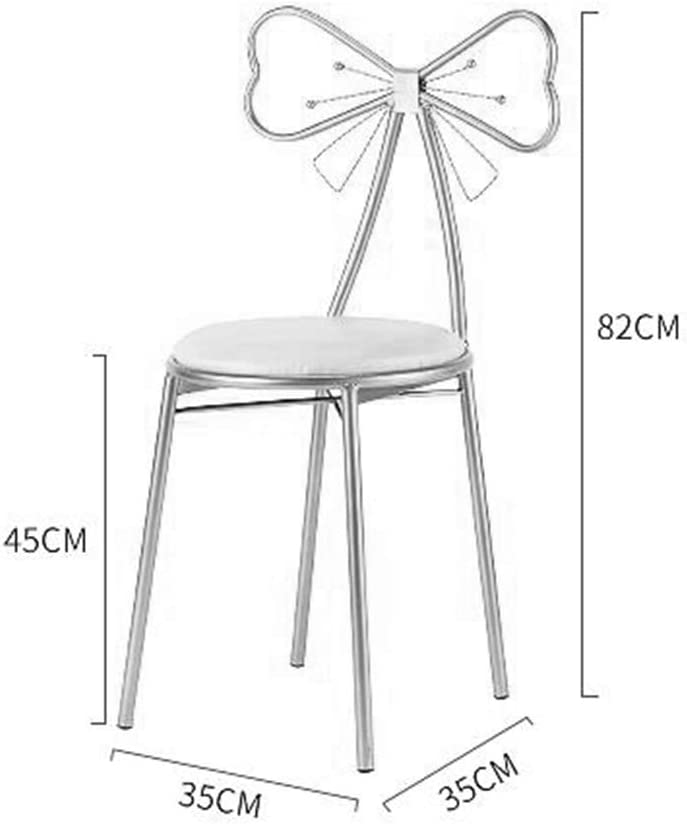 CL- Tabouret de Maquillage Minimaliste Fille cœur de Princesse Coiffeuse Chaise Chaise Longue - Multicolore en Option (Taille: 35X35X82cm) (Couleur : B) H