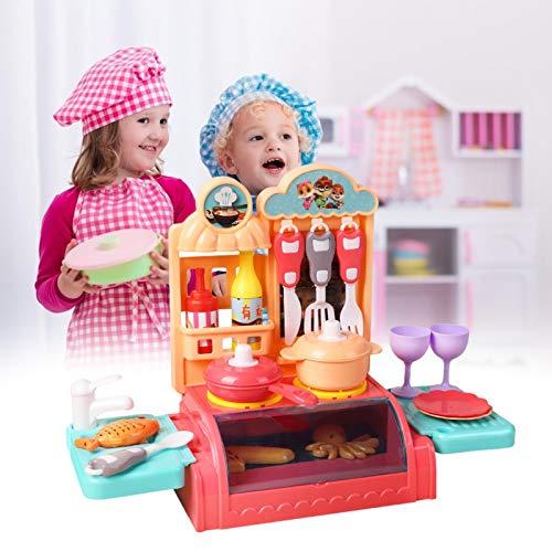 Juego de cocina para microondas con juego de simulación de comida falsa, juego de utensilios de cocina de tres ardillas, juego educativo a batería con sonidos
