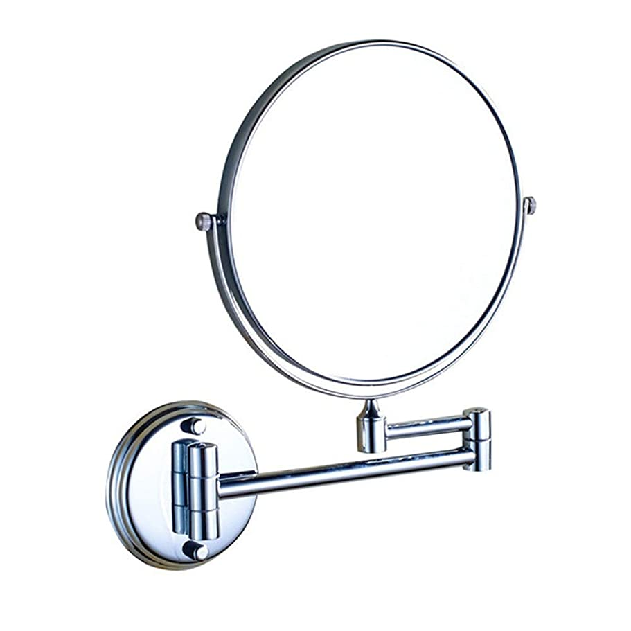 セーター膜スモッグ化粧鏡 3Xは、任意のバスルームに適した化粧鏡ミラー360°回転チャック8インチLED 照明用バスルームミラー (色 : Silve, サイズ : 8in)