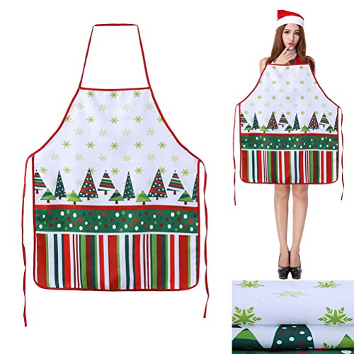 TAIPPAN Kerstschort Creatief Paar Sexy Uniforms Verleiding Jurk voor Thuis Nieuwjaar Familie Diner Koken Bakken Chef Kerstmis Decoratie Gift D