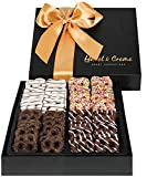 Hazel & Creme Chocolate Mini Pretzel Gift Basket- Gift Box - Gourmet Holiday Food Gift (Large Box)