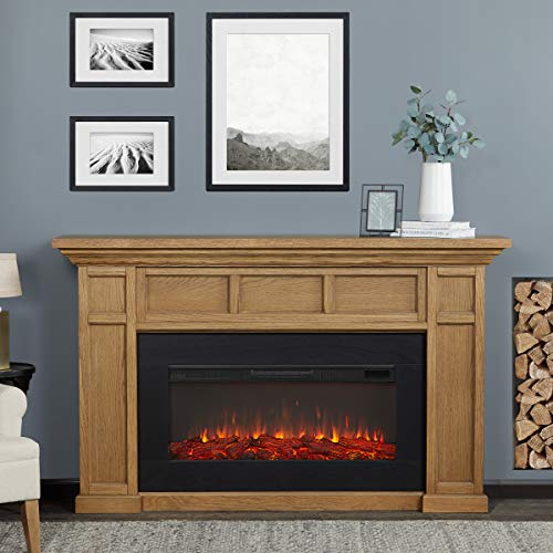 Real Flame White Alcott Landscape Electric Fireplace