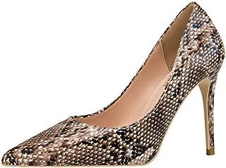 [OceanMap] ハイヒール パンプス 痛くない 脱げない 黒 ブラック 靴 レディース ヒール 結婚式 パンプス 低反発 ピンヒール ヒール 10cm パイソン ドレス フォーマル 仕事靴 立ち仕事 オフィス 二次会 パーティー