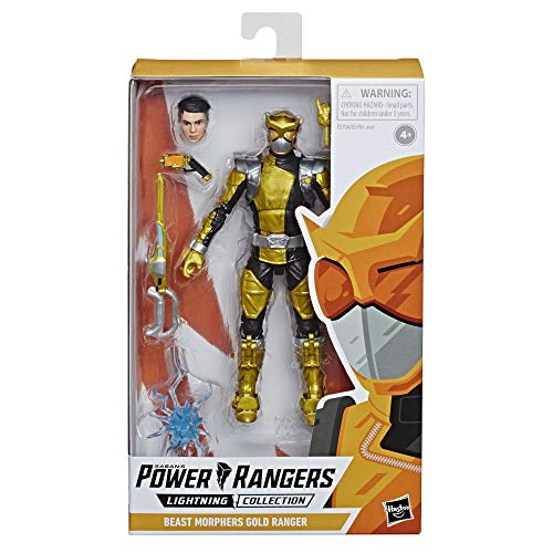 Power Rangers Lightning Collection Beast Morphers Goldener Ranger Figur, 15 cm. groß