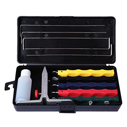 ASOSMOS 1 Set Messerschärfer Messerschleifer Apex Edge Wicked Küchenschärfsystem Fixed Angle Sharpener mit 4 Stück Schleifstein