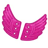 Baoblaze Novelty Wing Shoe Sneaker Angel Wings Shoes Accessories for Kids - Rose red, 12.2 x 7 x 0.2cm