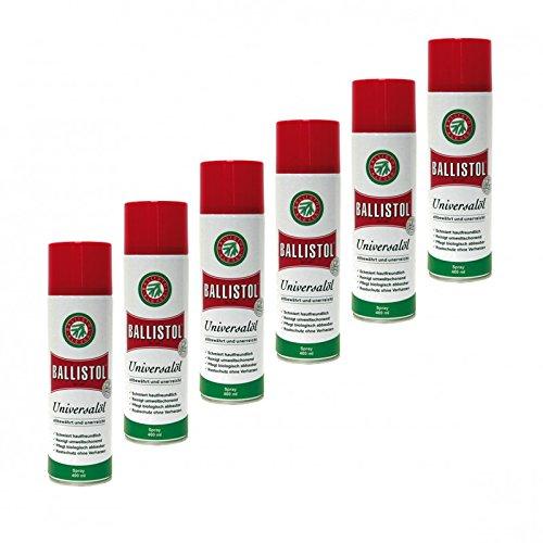 BALLISTOL Spray, 6 Dosen a 400 ml Waffenöl Kriechöl Pflegeöl 21810