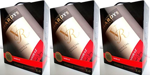 3 x HARDYS VR SHIRAZ VARIETAL RANGE 3L Bag in Box 14% vol Incl. Goodie von Flensburger Handel