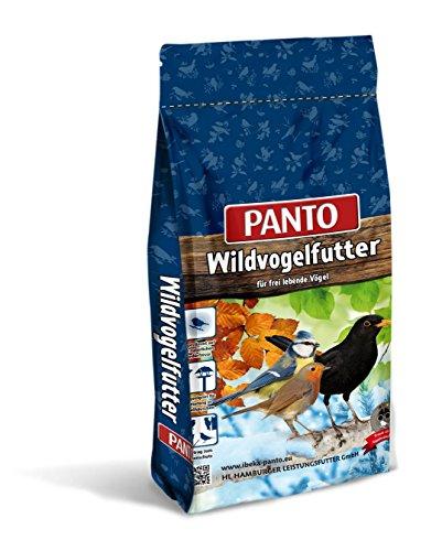 Panto Wildvogel Power Mix (Vogelfutter schalenlos mit Sonnenblumenkerne geschält, Fettfutter/Rosinen) für alle Körnerfresser und Weichfresser, 1er Pack (1 x 20000 g)