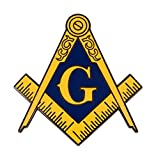 Masonic Logo Enamel Lapel Tie Pin Freemason Lodge Emblem Mason G Square Compass