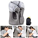Inflatable Travel Pillow UPGRADED Airplane Pillow Head and...