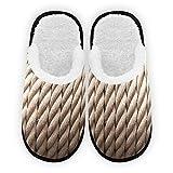 Nautical Rope - Zapatillas para hombre y mujer, forro de felpa, cómodas,...