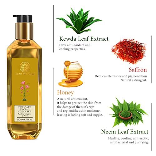 Forest Essentials Delicate Facial Cleanser Kashmiri Saffron & Neem