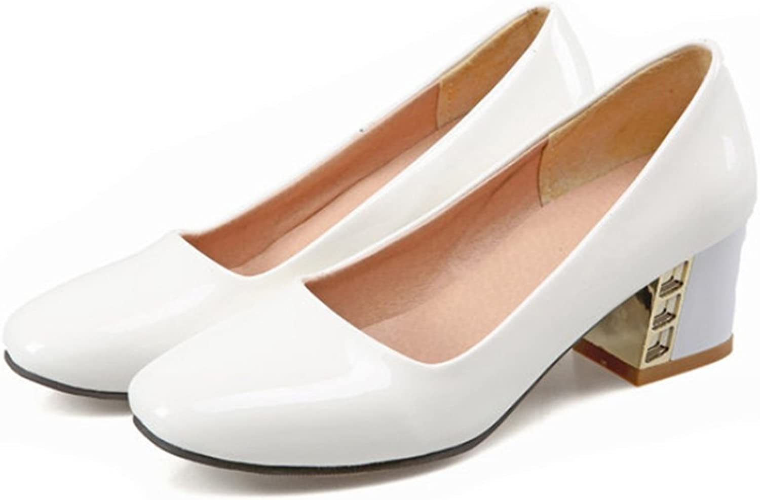 Middle Heel Low-cut Work Thin shoes white 39