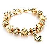 NA Bracelet Bijoux Bracelets en Or pour Femmes Bricolage Perles Bracelets en Cristal Et Bracelets Pulsera Bijoux De Mode Bracelets Couronne