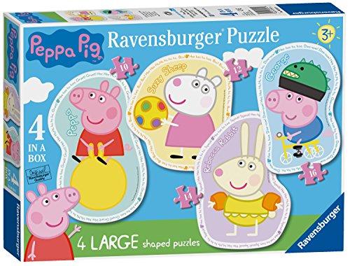 Ravensburger- Peppa Pig 4 Forma di Puzzle, large, 6956