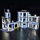 Kit de LED pour Lego City Le Commissariat de Police, Jeu De Lumiere Compatible avec Lego 60141 (Lego Modèle Non Incluse)