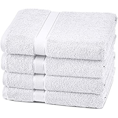 Pinzon Egyptian Cotton Bath Towel Set (4 Pack) - White