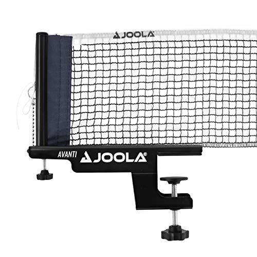 JOOLA Tischtennisnetz TT-Netzgarnitur AVANTI Freizeitsport - Höhenverstellbar mit Feststellschraube, Schwarz, 183 CM x 15,25 CM