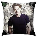 HOJJP Edward Cullen-Twilight Pillow Fashionable Zipper Square Pillowcase Novel Decorative Pillowcase Sitting Room Cushion Sofa Cushion 18 X 18 inch